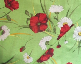 0, 5m design Jersey knit fabric poppies Jacquard knitted fabric fashion fabric