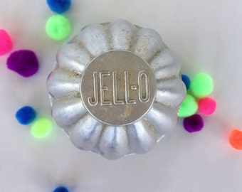 Lot of five tin Jell-O Molds