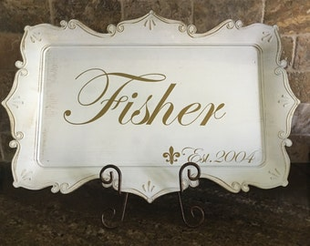 Personalized Platter - Wedding/ Anniversary Gift - Housewarming Gift
