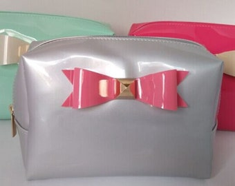 PVC cosmetics bag with bow