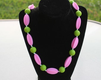 Watermelon Silicone Nursing and Teething Necklace