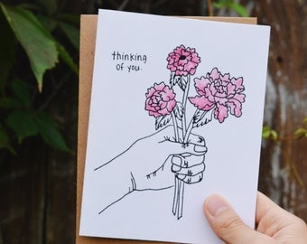 Flower Thinking of You greeting card