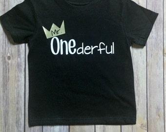 Boys birthday shirt, 1st birthday, boys birthday, birthday shirt, Mr. Onederful, boys birthday gift