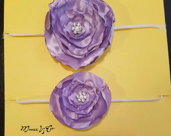 2 purple headband set for mommy and me