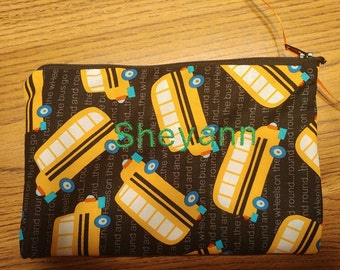 handmade personalized pencil pouch