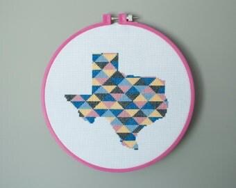 Texas Cross Stitch Pattern