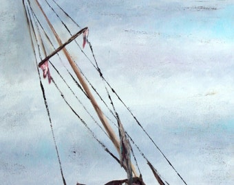 Beached Sailboat - Print