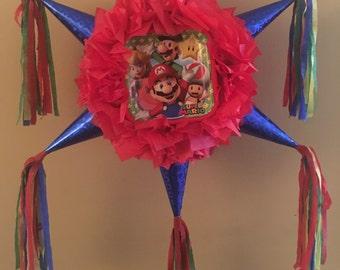 Super Mario Bros Star shaped Pinata