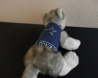 Dallas Cowboys Blue Dog/Cat Vest w/leash ring and velcro closure USA