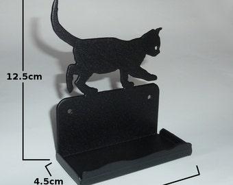 Cute Cat Kitten Metal Business Card Holder (Office Desk Decoration)