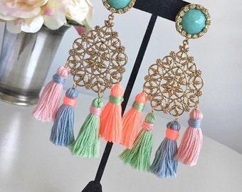 Earrings Boho Love multicolored