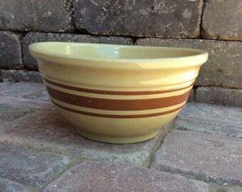 Watt yellow ware mixing bowl