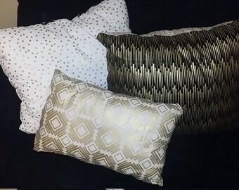 Decorative throw pillows set of 3