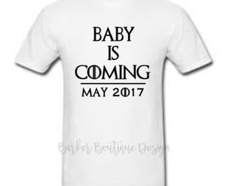 Baby is Coming with Due Date - Shirt - Game of Thrones