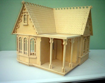 Wooden Cottage Doll House