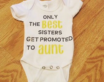 pregnancy announcement onesie Aunt or Uncle