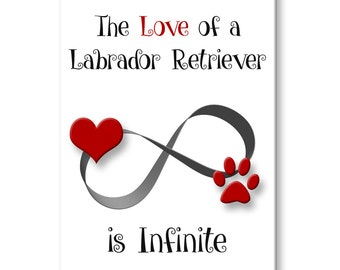 Labrador Retriever Infinite Love Fridge Magnet