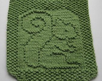 Hand knit baby bib