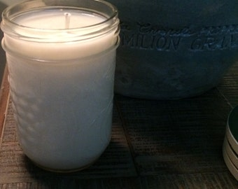 All Natural Soy Wax Scented Mason Jar Candle-8 oz