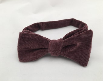 Purple Upcycled Bow Tie