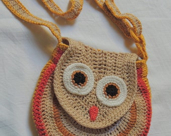 Crochet bag owl