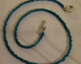 Beaded glass necklace. #8