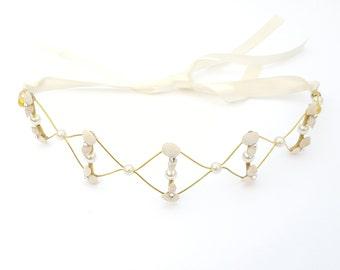 Shell Swarovski Headband Crown