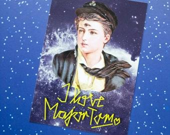"Postcard ""I love Major Tom"""