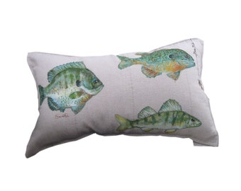 PANFISH PILLOW COVER - Decorative Fish Pillow Sham