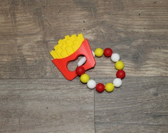 Silicone Teething Toy | French Fries | Modern | Perfect Gift | Handmade in Canada | Unique | Teething | Baby | Kenton Creations | Textured