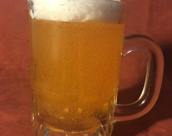 Beer Mug Gel Candle