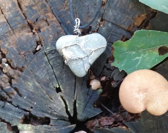 Heart Fossil Stone