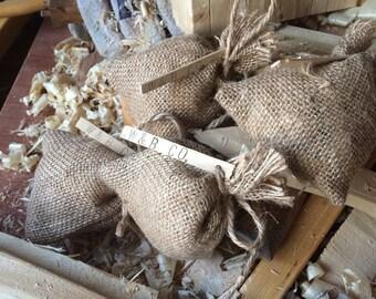 Wood Shavings in a Jute Bag