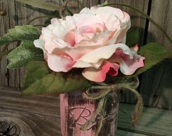 mason jar arrangement, shabby chic, wedding, contact for shipping price