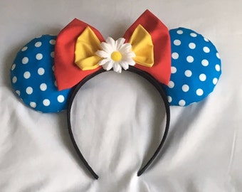 Vintage Blue Polka Dot Minnie Mouse Ears