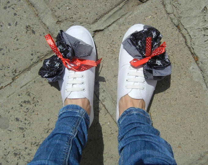 New Ribbon Kanvas Shoes / Attractive Charm Kanvas Shoes / Retro Ribbon Kanvas Shoes