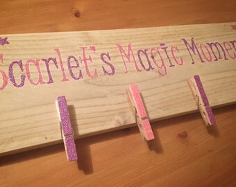 Personalised sparkly peg board