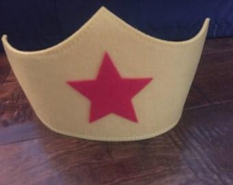Wonder Woman  Mask/Crown and/or cuffs Superhero mask tiara.
