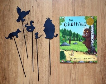 The Gruffalo Storytime Shadow Puppets Hand cut
