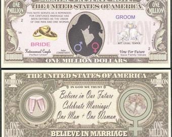 Marital Preserve Note / Believe in Marriage Million Dollar Novelty Note