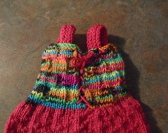 Knitted Newborn Dress