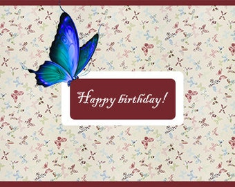 Set of 5 handmade birthday- greeting cards!