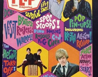 Flip Magazine~Music~Tv~Sept 1966~Mamas & Papas~Beatles~Pop