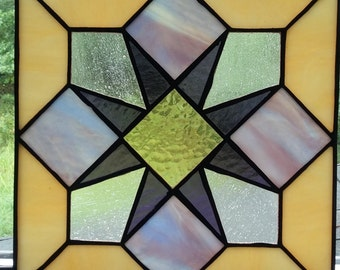 Heart Burst Stained Glass