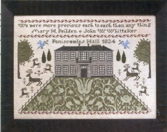 Femiscowles Hall 1824 by Heartstring Samplery Counted Cross Stitch Pattern/Chart