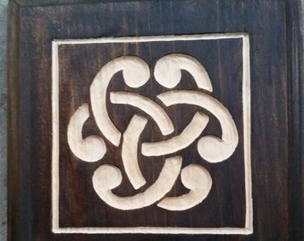 Hidden Celtic Trinity Knot Wall Plaque