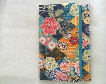 Vintage Japanese multicolor patchwork foldover clutch