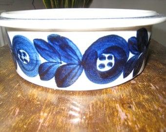 ARABIA Blue ANEMONE - Serving/baking bowl