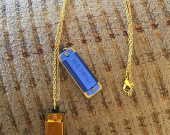 Working Harmonica Necklace