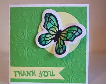 Butterfly thank you card multipack